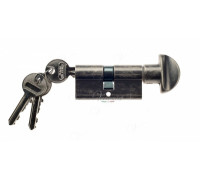 Ключевой цилиндр Venezia 70мм (30/40Т) ключ/вертушка серебро антич.