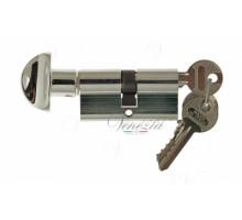 Ключевой цилиндр Venezia 70мм (30/40Т) ключ/вертушка полиров. хром
