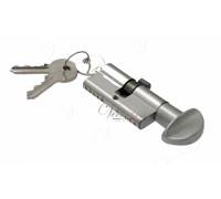 Ключевой цилиндр Venezia 70мм (30/40Т) ключ/вертушка мат. хром