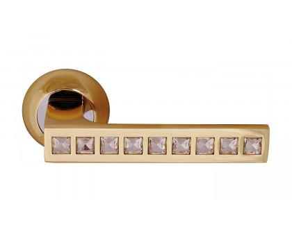 Дверная ручка Vilardi Виктория золото с кристаллами