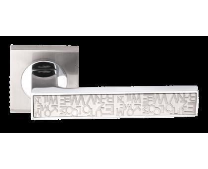 Дверная ручка Vilardi Сандра(матовый хром/хром